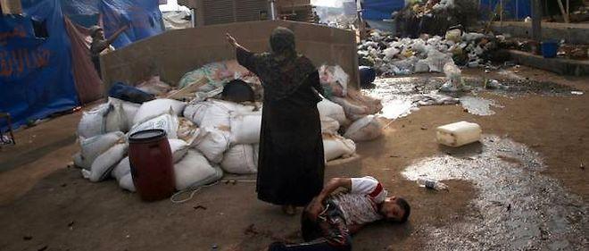 L'image de cette femme qui s'interpose entre un blessé et les bulldozers a fait le tour du monde.