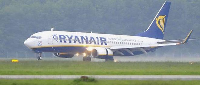 Un avion Ryanair.