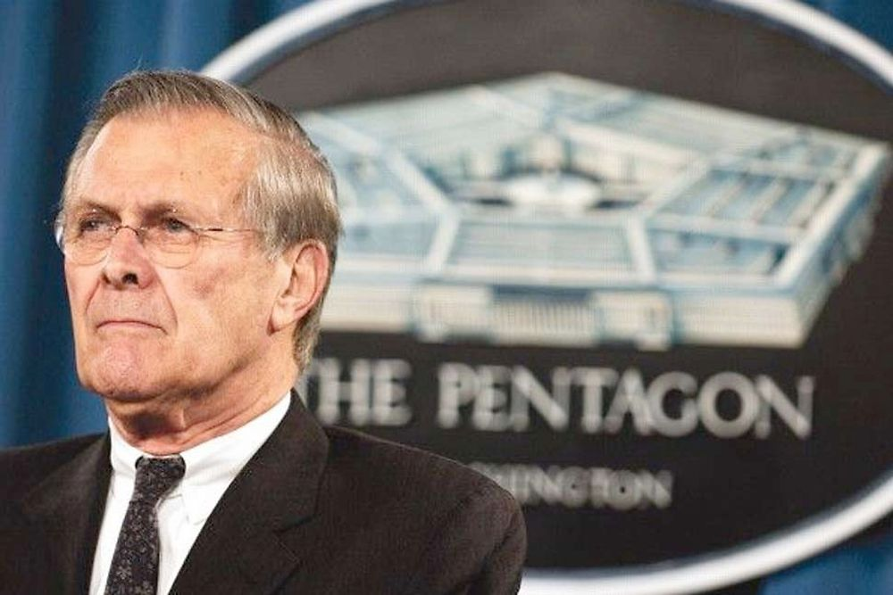 """The Unknown Known : The Life and Times of Donald Rumsfeld"" d'Errol Morris"
