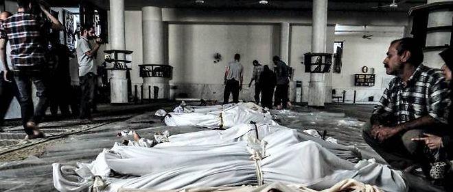 Corps de Syriens tués dans l'attaque de la Ghouta le 21 août 2013.