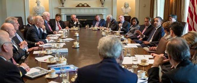 Barack Obama a reçu les membres du Congrès le 3 septembre.
