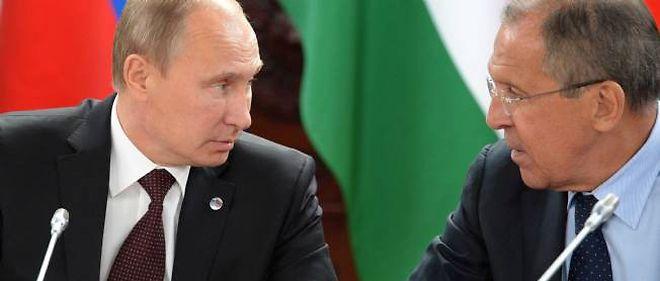Vladimir Poutine et son ministre des Affaires étrangères, Sergueï Lavrov.