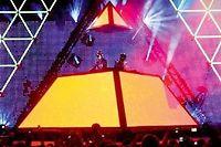 Daft Punk en live au Festival de Coachella (Californie) en 2006. ©Karl Walter