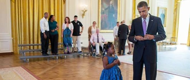 Le geste touchant de Barack Obama