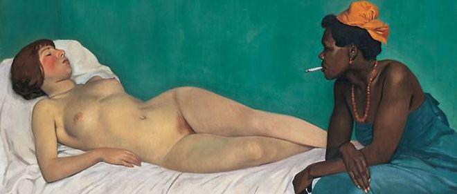 """""""La Blanche et la Noire"""" (1913) de Félix Vallotton"""