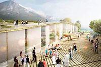 Le futur centre de congrès en vue d'architecte. ©Snøhetta-Moka