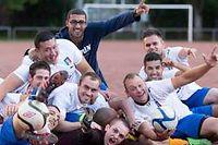 Des membres de l'association sportive des Italiens d'Annecy. ©PATRICE COPPEE/AFP