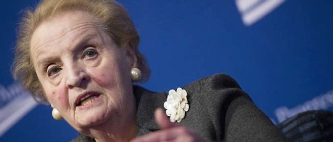 Madelaine Albright, ce 24 octobre, devant le Center for American Progress.