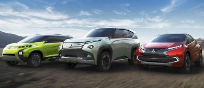 Les trois concepts que Mitsubishi va présenter au salon de Tokyo utilisent des chaînes de traction hybrides.