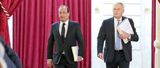 Hollande et Ayrault, le 19 août, à l'Élysée.