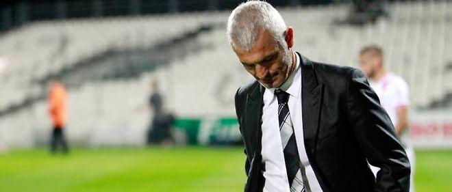 Fabrizio Ravanelli n'est plus l'entraîneur d'Ajaccio (photo prise le 2 novembre à Ajaccio).