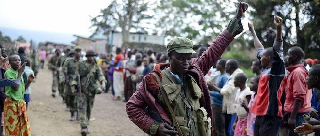 Un soldat de l'armée de la République démocratique du Congo à Bunagana (est).