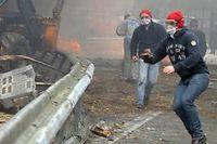 Cinq portiques ecotaxe ont été détruits en Bretagne. ©FRED TANNEAU / AFP