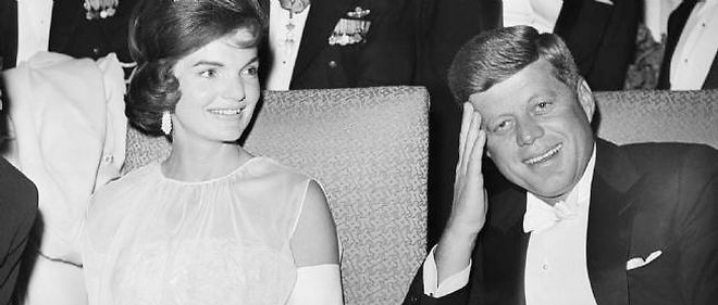 Jackie et John Fitzerald Kennedy.