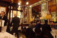 La salle de restaurant Chez Lipp à Paris. ©Gilles Pudlowski