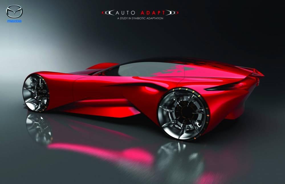 Un seul mot, splendide ce dessin duà Mazda. C'est aussi le concept le plus réaliste du concours
