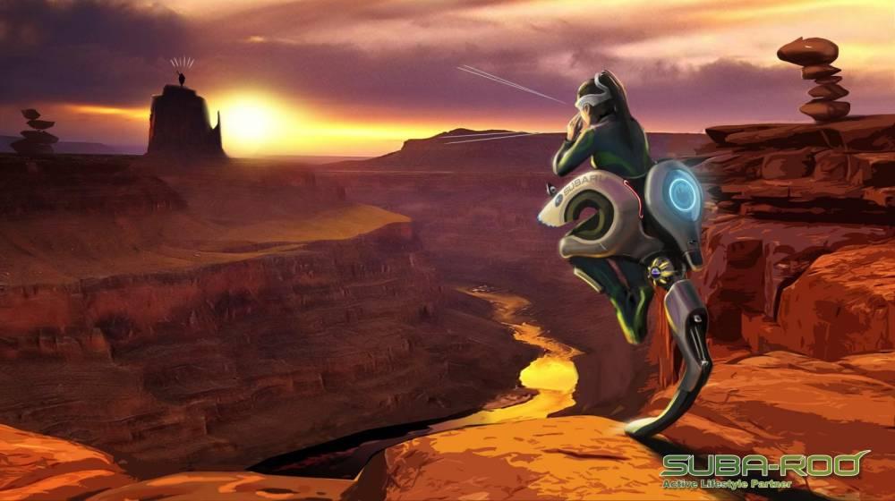 Inspiré du kangorou, le Suba-Roo est un vrai tout terrain qui saute