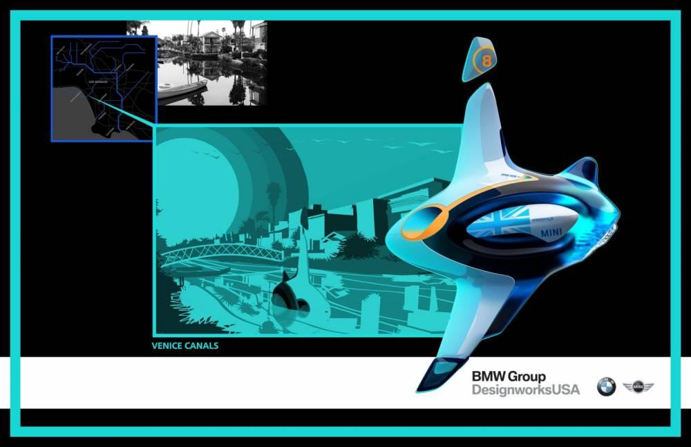Le projet BMW-Mini imagine une sorte de sous marin utilisant les canux des villes pour se déplacer