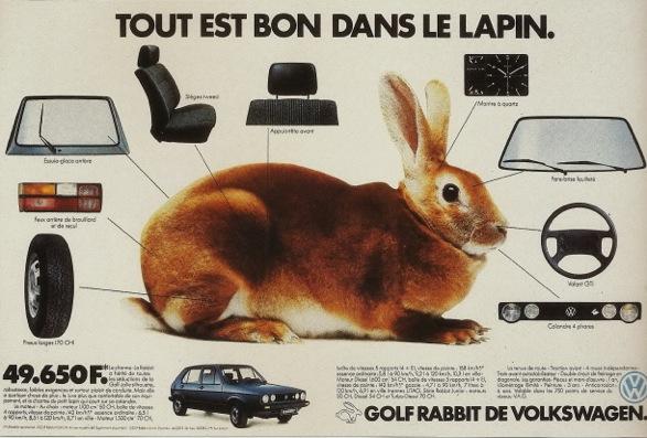 La série Rabbit était proposée dès 1983 sur toute la gamme Golf sous la forme d'un équipement enrichi ©  DR