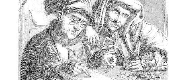 Les détournements de Walter Lewino : Hollande et Ayrault rassemblant leurs économies pour boucler le budget 2013