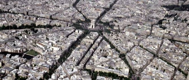 Vue aérienne de Paris (image d'illustration).