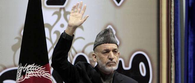 Le président afghan Hamid Karkaï à Kaboul le 24 novembre 2013.