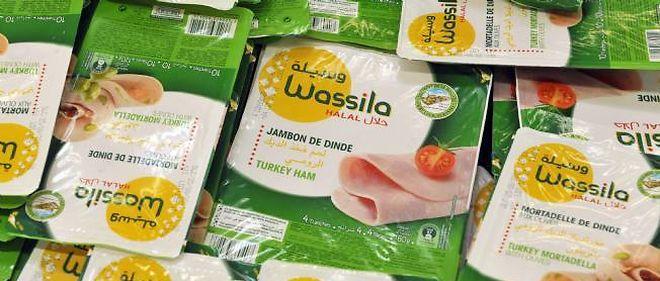 Photo d'illustration. Rayon de produits halal dans un supermarché.