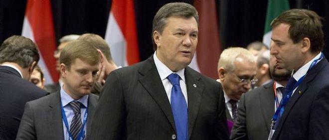 Le président ukrainien Viktor Ianoukovitch, au sommet de Vilnius consacré au rapprochement entre l'Union européenne et six anciennes républiques soviétiques, le vendredi 29 novembre.