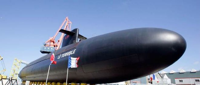 """Le sous-marin nucléaire lanceur d'engins """"Le Terrible"""" a été mis à l'eau en 2010. C'est une pièce maîtresse de l'arsenal de dissuasion."""