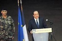 François Hollande s'est adressé aux forces françaises à Bangui mardi soir. ©Sia Kambou/AFP