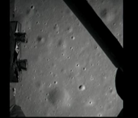 La première photo de Chang'e-3 de la surface lunaire