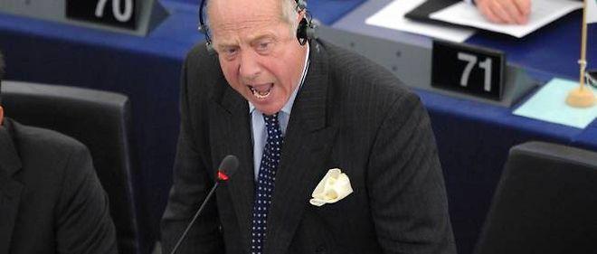 Godfrey Bloom du parti populiste britannique Ukip siège à Strasbourg où il est familier des coups d'éclat.