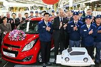 C'était le 29 octobre dernier, on y fêtait sur le site de Changwon le cap franchi du million de Chevrolet Spark produites. Un petit modèle aux spécifications européennes.