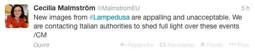 Le premier tweet de Cecilia Malmström