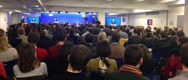 Réunion de lancement de Sens commun, le 19 décembre 2013 à l'UMP.