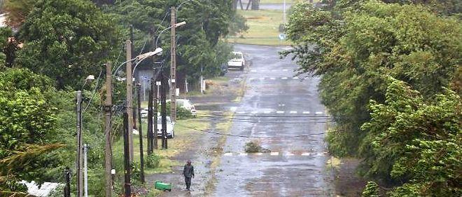 À la Possession, avant le passage du cyclone Bejisa, attendu dans l'après-midi de jeudi.
