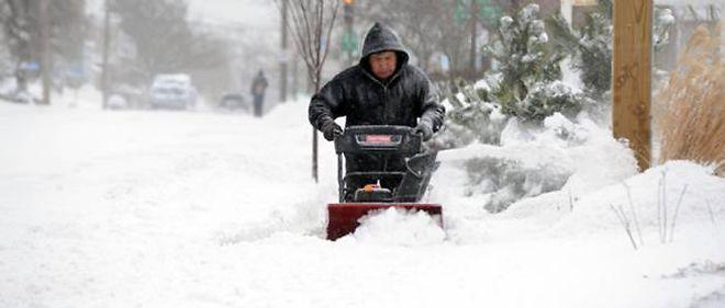 La neige recouvre le nord des États-Unis, photo d'illustration.