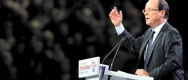 François Hollande au Bourget le 22 janvier 2012.