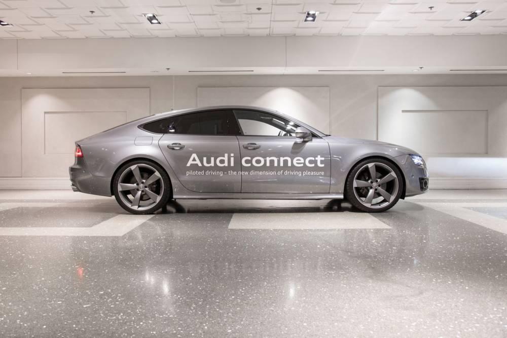 """Le prototype de développement du """"Piloted Drive"""" est une Audi A7."""