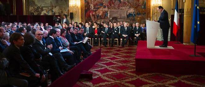 François Hollande lors de sa conférence de presse, le 14 janvier 2014.