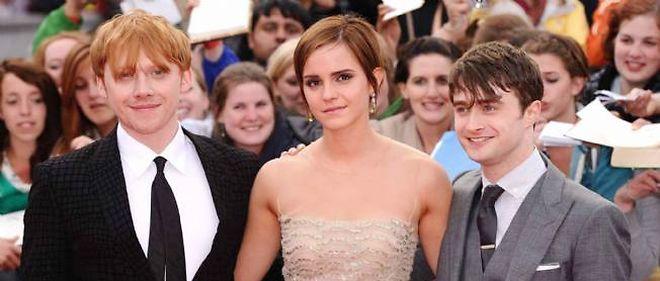 Les acteurs Rupert Grint (Ron), Emma Watson (Hermione) et Daniel Radcliffe (Harry Potter).