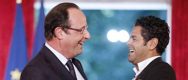 François Hollande et Jamel Debbouze à l'Élysée, le 12 juin 2013.