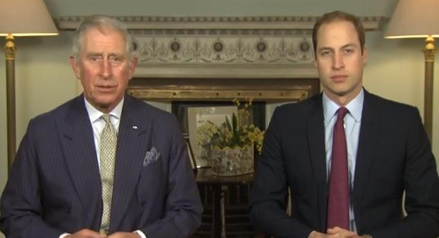 Charles et William pour la défense de la faune menacé par le trafic ©  Capture d'écran YouTube
