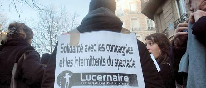 Manifestation des intermittents en 2008.