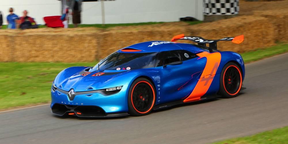 ici en démonstration à Goodwood, l'Alpine n'est encore qu'un concept-car ©  DR