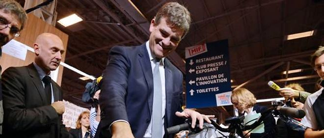 Arnaud Montebourg au salon du Made in France en novembre 2013