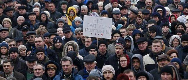 La mobilisation ne faiblit pas sur la place Maïdan, à Kiev, le 3 février.
