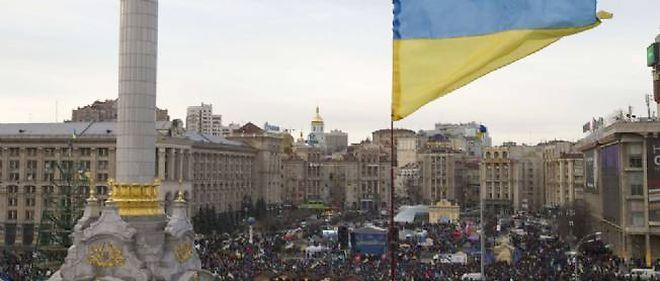 L'opposition ukrainienne sur la place de l'Indépendance, à Kiev, photo d'illustration. © Ivan Sekretarev/AP / Sipa