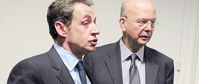 L'ancien président Nicolas Sarkozy et son conseiller Patrick Buisson.