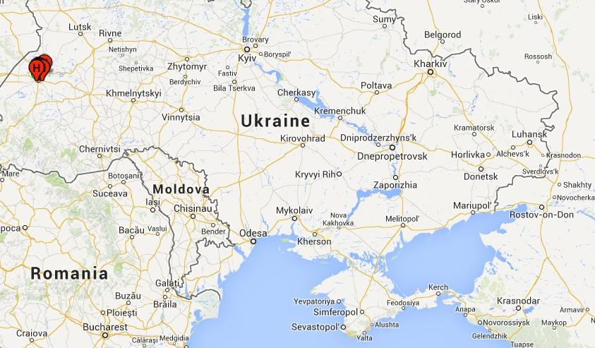Lviv à l'ouest de l'Ukraine, destinantion des Tatars fuyant la Crimée ©  Google maps